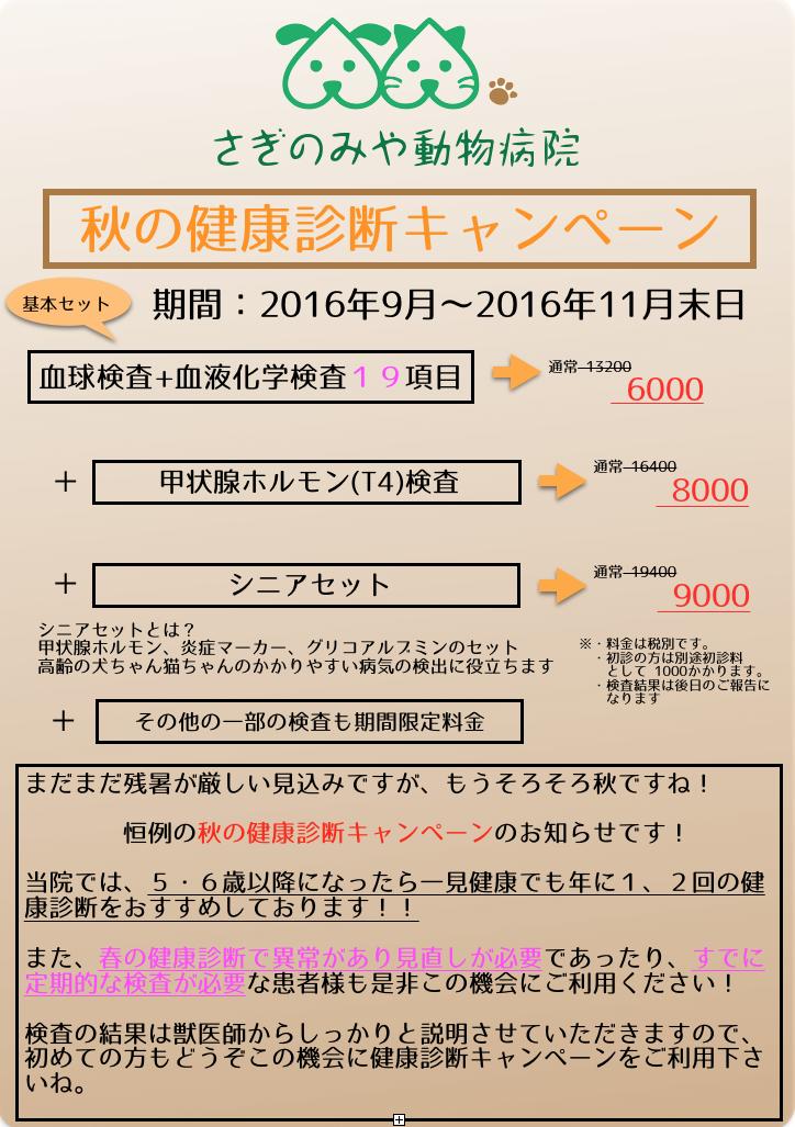 秋キャンペーン